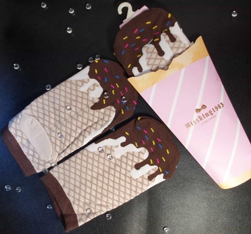Funny design Sneaker Socken mit Ice-Cream