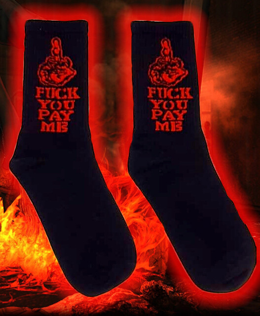 Coole Unisex Hip Hop Socken mit F*ck YOU Print
