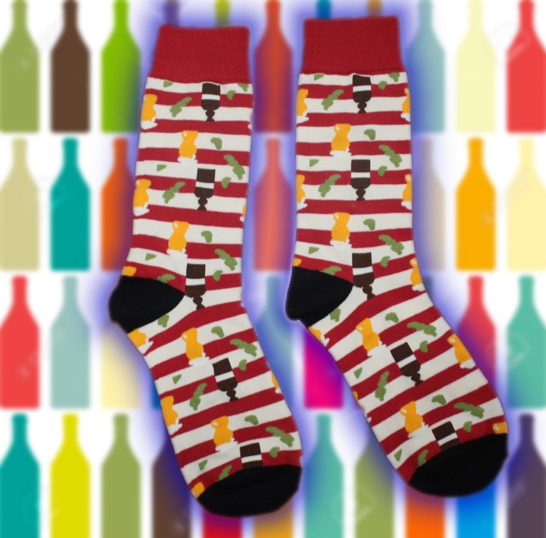 Socken mit Weinflaschen 🧦🍾