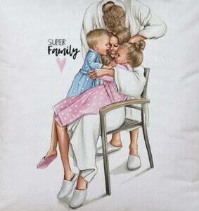 Kissenhülle mit Family Print 💖