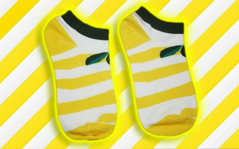 Low Socks mit Citronen Print 🍋🧦