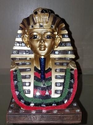 King Tut Tutankhamun Red, Black, Green, Gold Statue