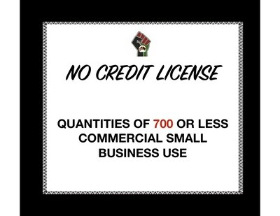 No Credit License for Quantities of 700 or Less (Commercial Use) for 1 Clipart or Digital Paper Set