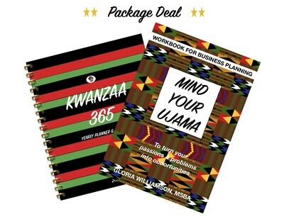 2 FOR 1-Kwanzaa 365 Yearly Planner & Agenda 2020 & MIND YOUR UJAMAA: Workbook for Business Planning