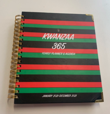 HARDCOVER-Kwanzaa 365 Yearly Planner & Agenda (January 2020-December 2020)-12 Month (Great Holiday Gift)