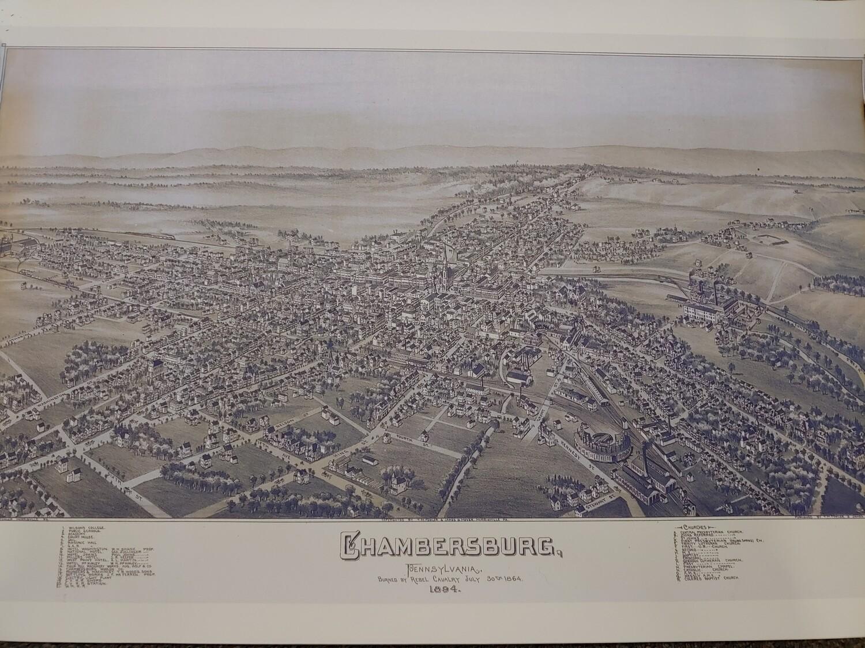 Chambersburg 1894 3D Map