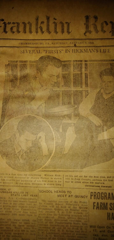 Franklin Repository 1928