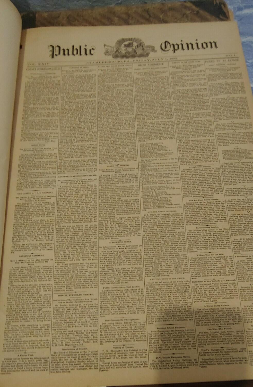 Public Opinion 1892-1893