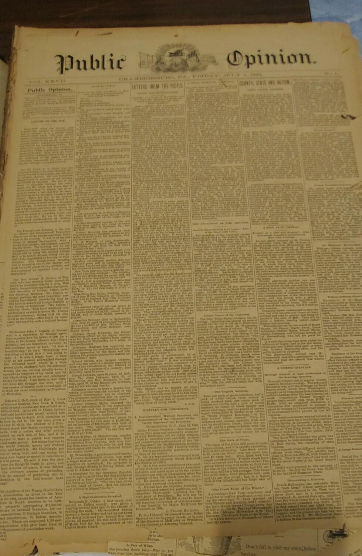 Public Opinion 1895-1896