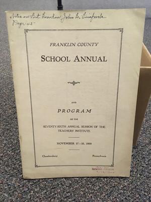 Franklin County School Annual 1930