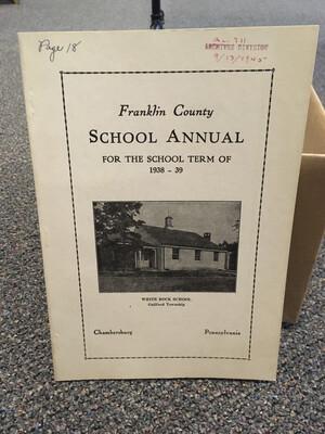 Franklin County School Annual 1838-39