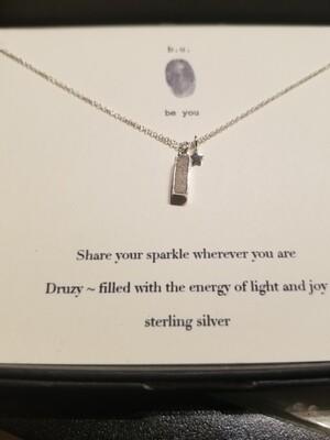 b.u. share your sparkle druzy necklace