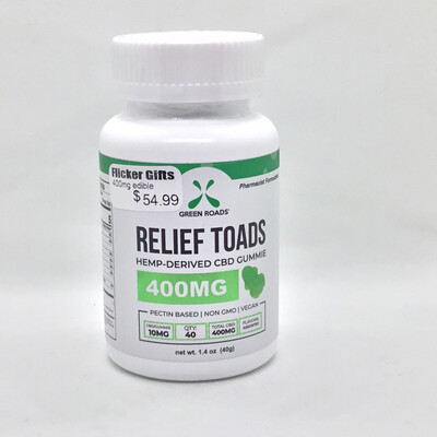 CBD Relief Toad Vegan Gummies 400mg