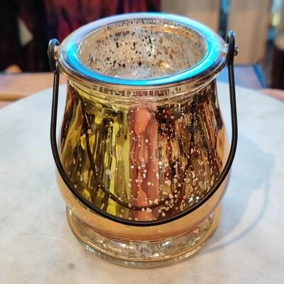 Mercury Glass Tealight Holder with Handle