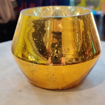 Mercury Glass Tealight Candle Holder