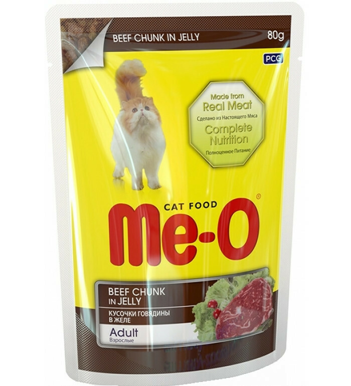 Мео Me-O влаж.д/кошек 80г говядина в желе