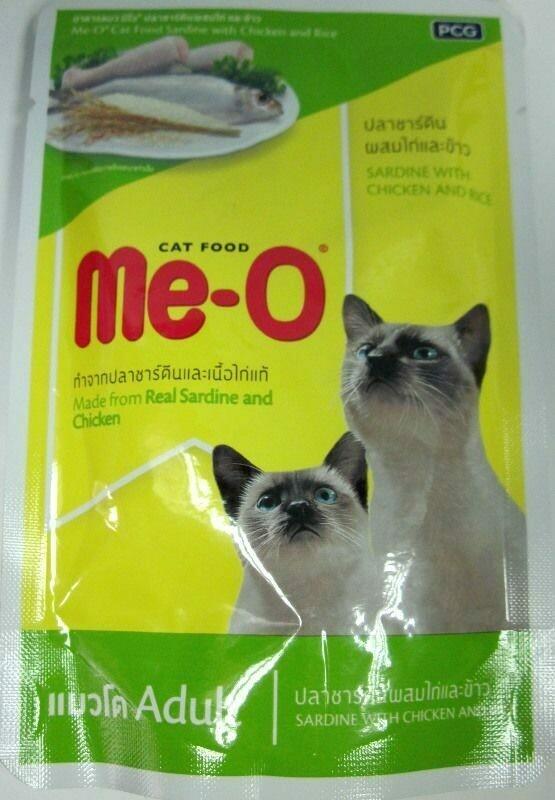 Мео Me-O влаж.д/кошек 80г сардина/курица/рис в желе №5