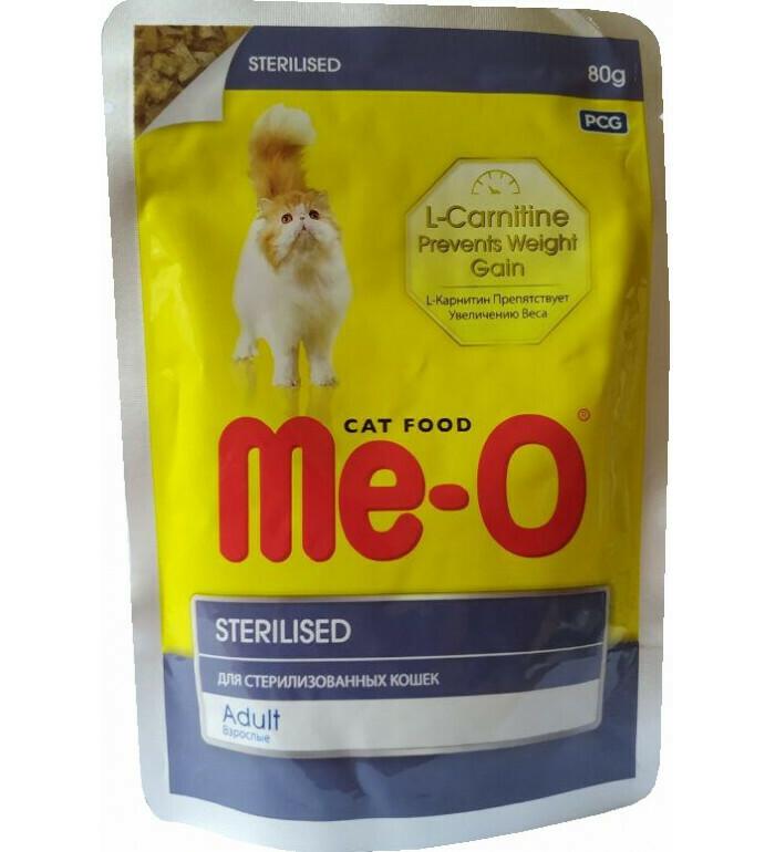 Мео Me-O влаж.д/кошек 80г стерил.и кастрир