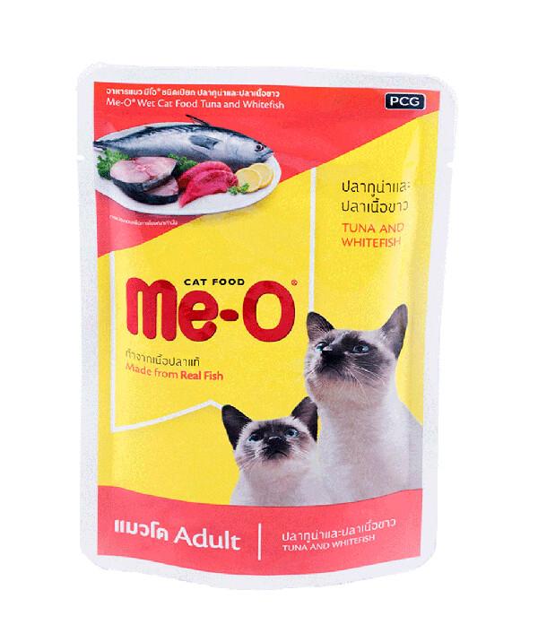 Мео Me-O влаж.д/кошек 80г тунец/белая рыба  желе №8