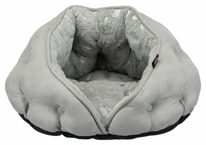 Трикси TRIXIE Лежак-пещера Feather, 47 х 27 х 41 см, серый/серебристый