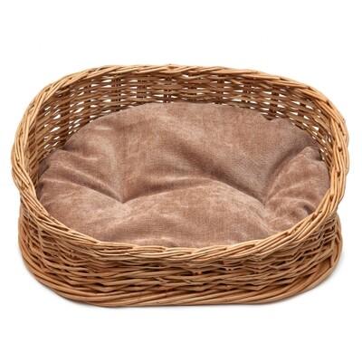 Лежанка плетеная из лозы малая 45*35*15см