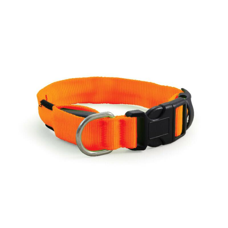 Ошейник светодиодный неоновый,оранжевый