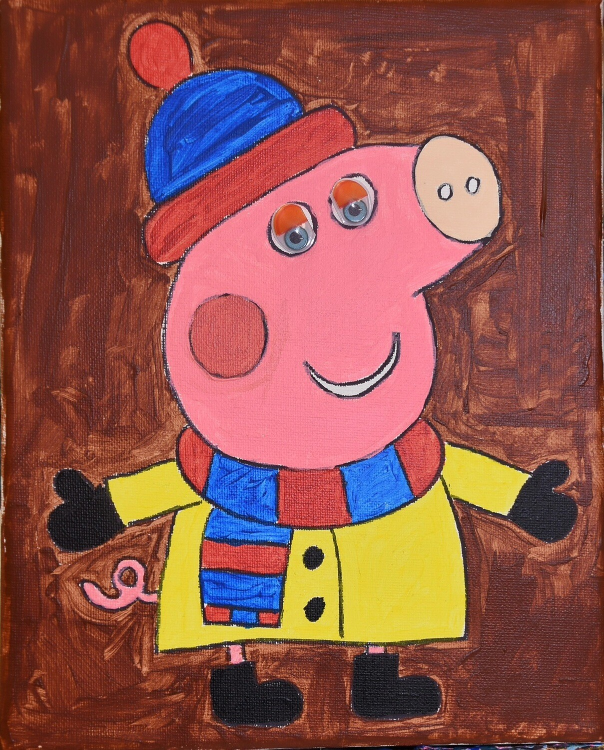 Peppa Pig - pre-traced canvas
