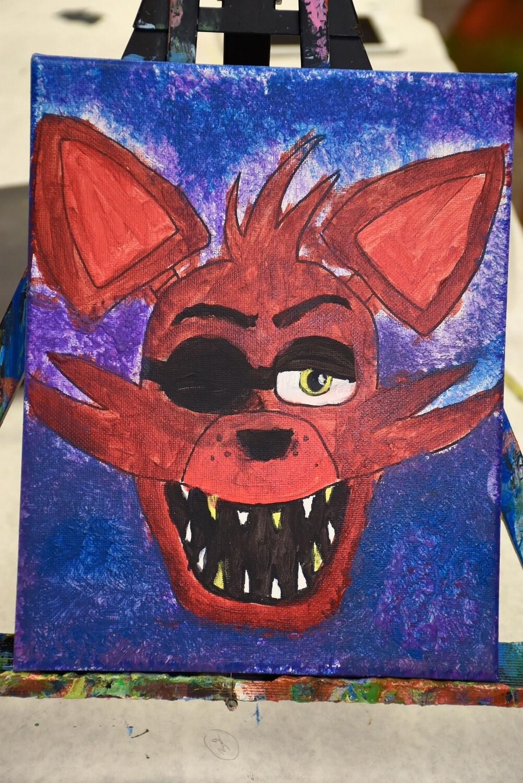 Pre-traced canvas - Foxy