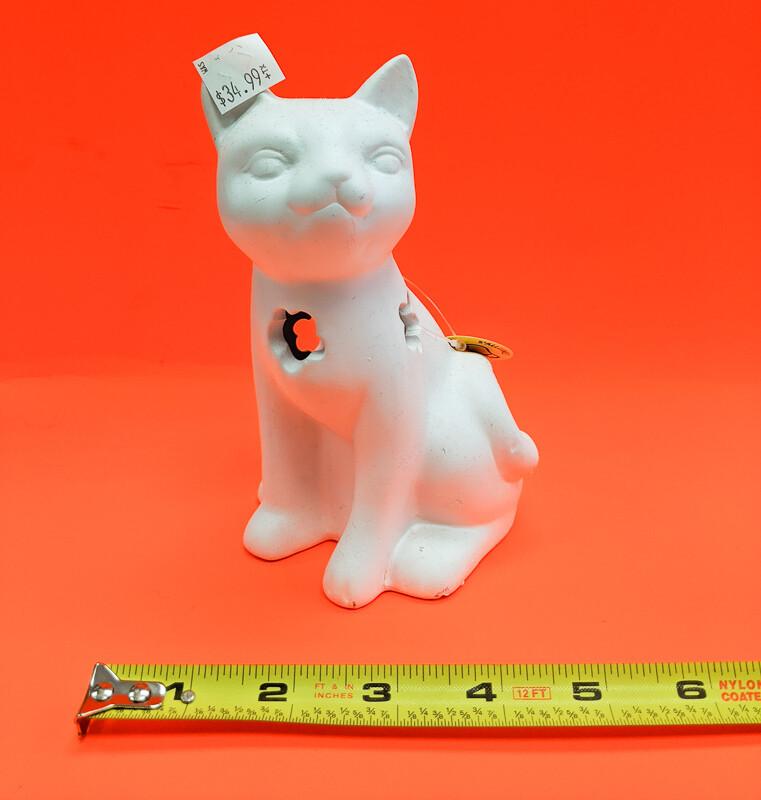 Cat Nightstand DIY figurine plaster to paint for kids Art Craft