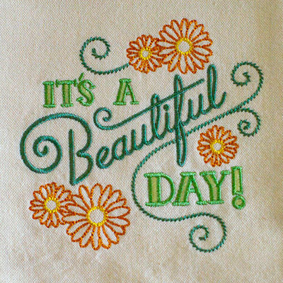 It's A Beautiful Day (Hand Towel)