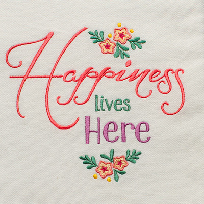 Happiness Lives Here (Hand Towel)