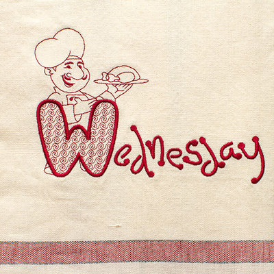 Wednesday (Dish Towel)