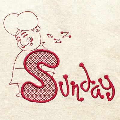 Sunday (Dish Towel)