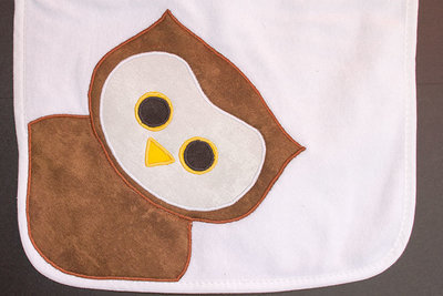 Owl Burp Cloth