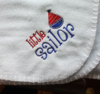 Little Sailor Baby Blanket