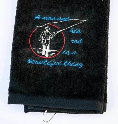 A Man And His Rod Is A Beautiful Thing Sport Towel