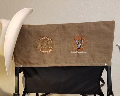 Custom Chairback Embroidery