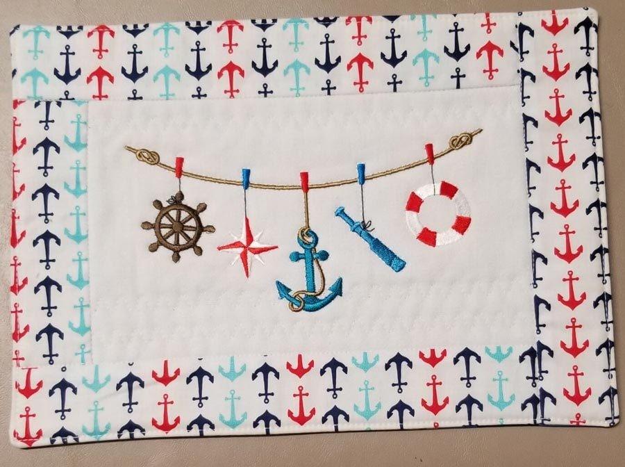 Nautical Symbols On A Rope