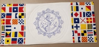 Classic Anchor and Nautical Flags