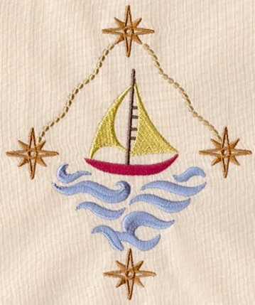 Hand Towel With Sailboat