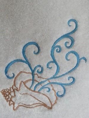 Nautical Hand Towel Featuring Sea Shell