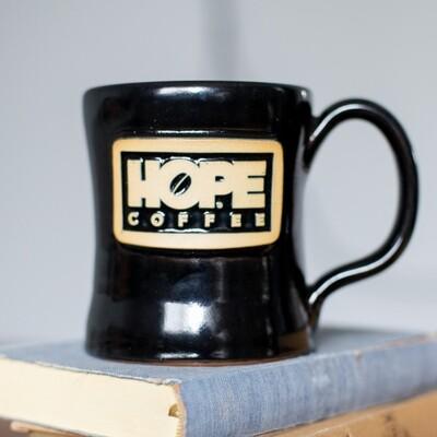 HOPE Coffee 11 oz. Handcrafted Stoneware Mug - Diner Style
