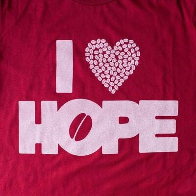 T-Shirts: I Heart HOPE (Cardinal)