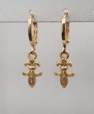 Mini flower oorbellen goud