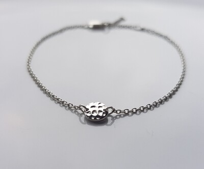 One bead armband 925 sterling zilver
