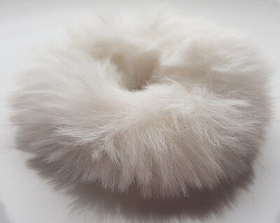 Furry scrunchie wit