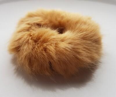 Furry scrunchie bruin