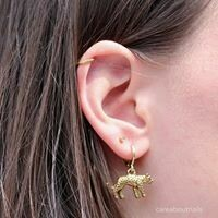 Panter oorbellen