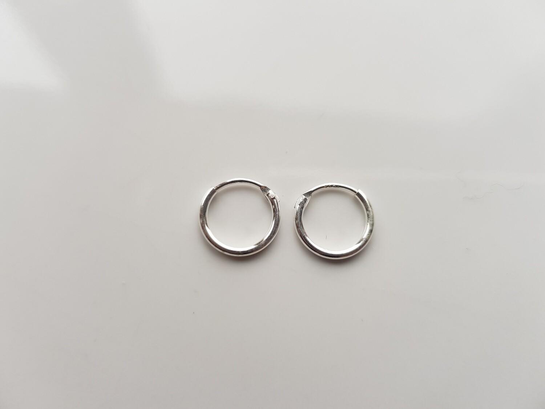 Oorringetjes 925 sterling zilver 8 mm