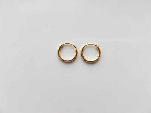 Oorringetjes 6 mm goud gold plated